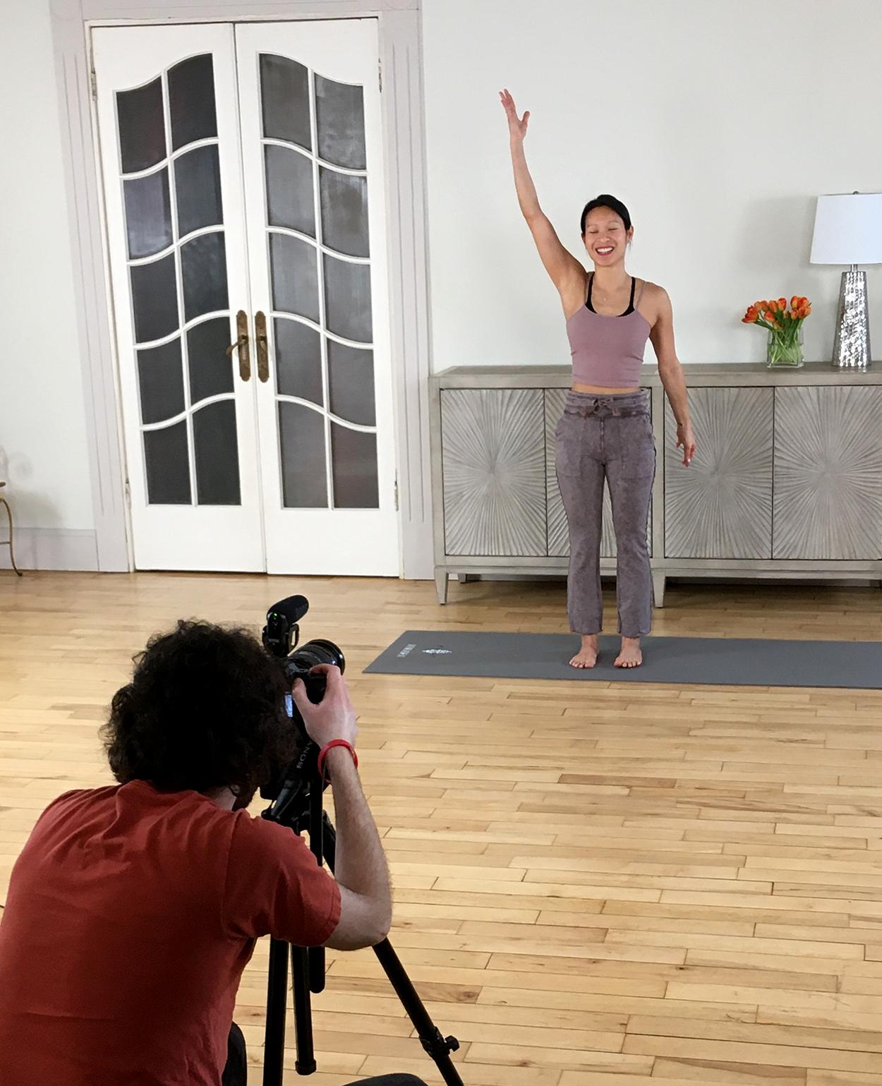 Vanessa Demonstrates Stretch Moves
