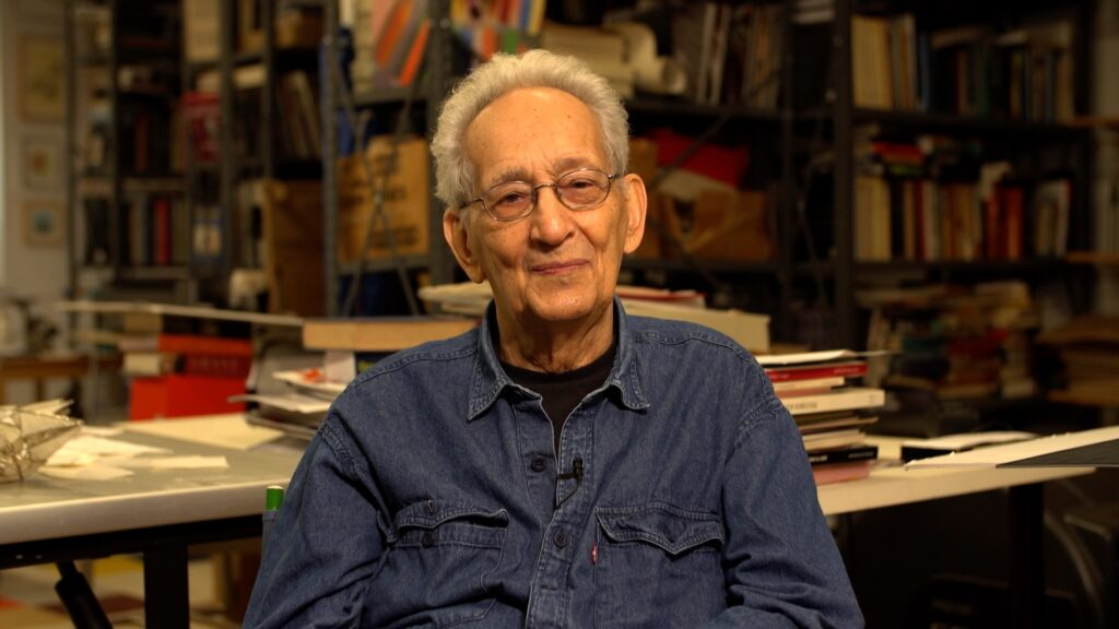 Frank Stella in his Studio